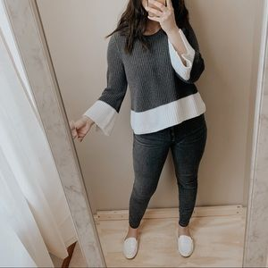 GAP color block bell sleeve sweater